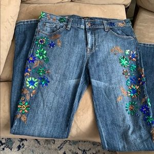 Beautiful beaded jeans!